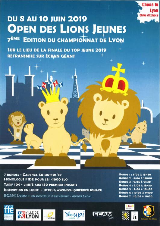 Affiche Championnat de Lyon Jeunes 2019
