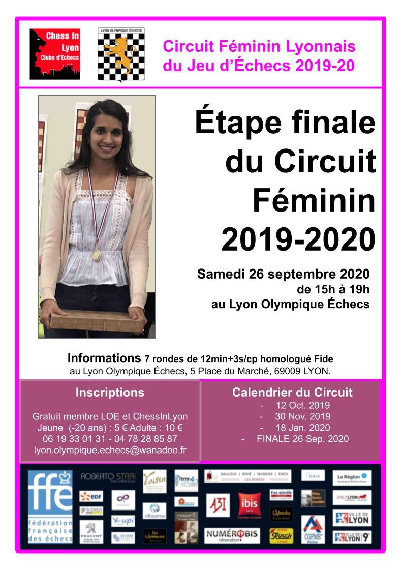 Affiches Circuit féminins Étape Finale 2019-2020